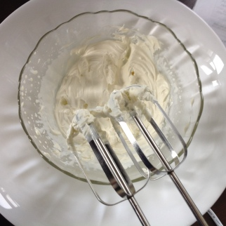 Whisk the cream